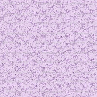 Purple Unicorn Pattern