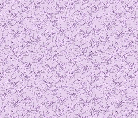 Purple Unicorn Pattern fabric by northern_whimsy on Spoonflower - custom fabric