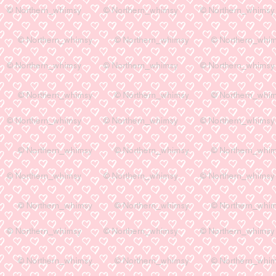 Tiny Hearts on Pale Pastel Pink