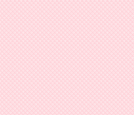 Tiny Hearts on Pale Pastel Pink fabric by northern_whimsy on Spoonflower - custom fabric