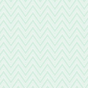 Pale Pastel Blue Chevron
