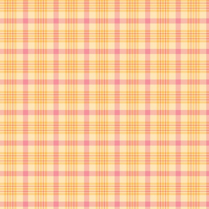 Pink and Yellow Spring Plaid