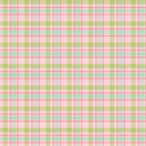 Pastel Pink, Green, and Blue Plaid