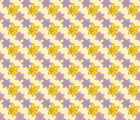 Spring Floral Pattern - Crocus and Daffodils fabric by northern_whimsy on Spoonflower - custom fabric