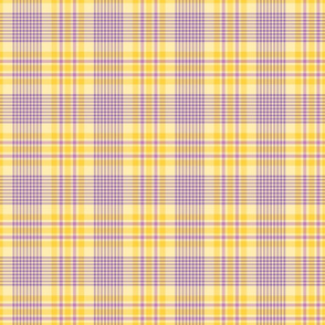 Purple and Yellow Easter Plaid