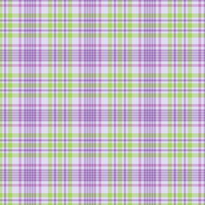 Purple and Green Spring Plaid