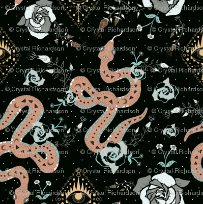 Dark Snake and Roses Tattoo Universe