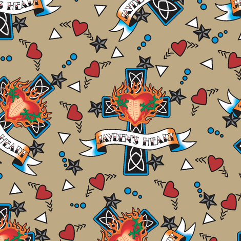 Jayden's Heart fabric by jewelraider on Spoonflower - custom fabric