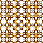 Gold and brown squares small pattern