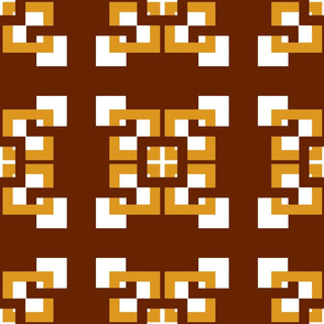 Gold and brown connecting squares Coordinate