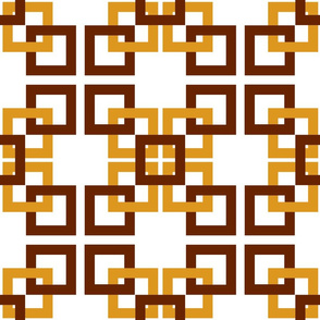 Gold and brown connecting squares