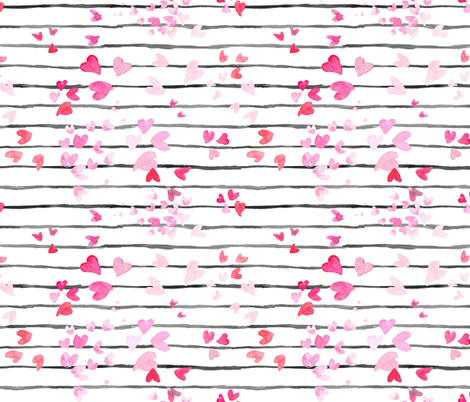 heart stripe fabric by crystal_walen on Spoonflower - custom fabric