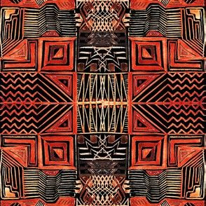 African Art Inspired. Dark version
