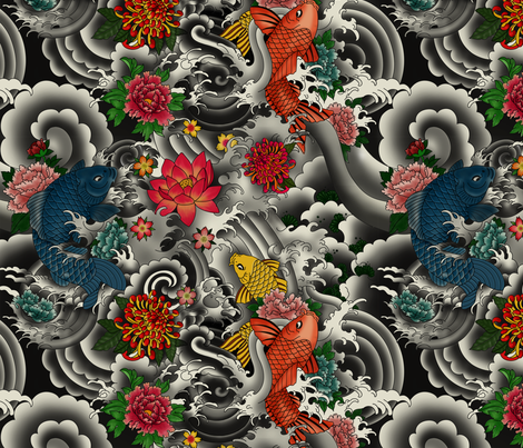 KOI FISH FROM JAPAN fabric by geetanjali on Spoonflower - custom fabric