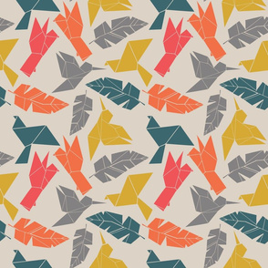 Geometric birds and feathers - colours-01