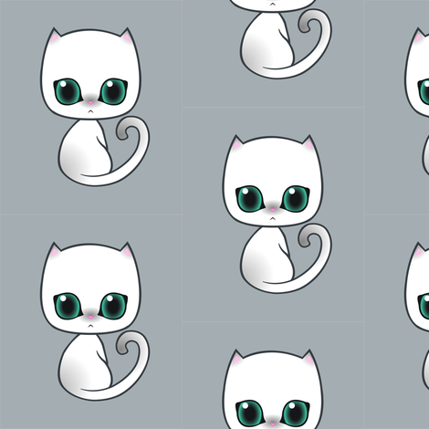 Kitty_siamese fabric by lilmoontreasures on Spoonflower - custom fabric