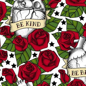 Heart and Roses_Stars_ Bg White