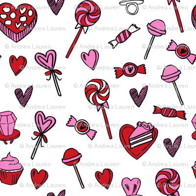 valentines candy // cute chocolates fabric hearts love valentines day white red
