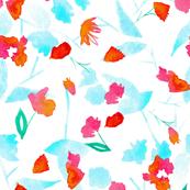 pastel watercolor floral