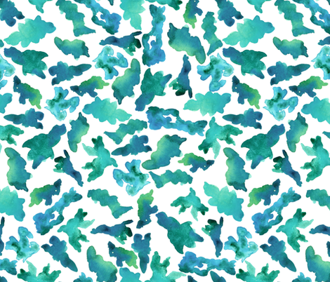 green watercolor abstract fabric by t_textile_design on Spoonflower - custom fabric
