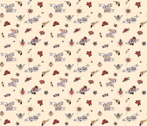 Cute Vintage Tattoos fabric by scandipan on Spoonflower - custom fabric