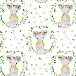 "4"" LILA THE MOUSE SPRINGTIME"