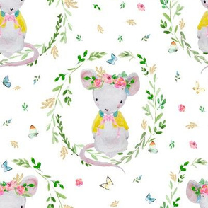"8"" LILA THE MOUSE SPRINGTIME"