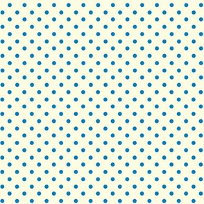 Dolly Dots Clear Blue Small Offwhite