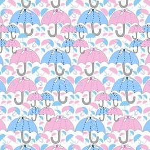It's Raining Babies! It's A Boy! It's A Girl! Umbrellas Fabric New 2