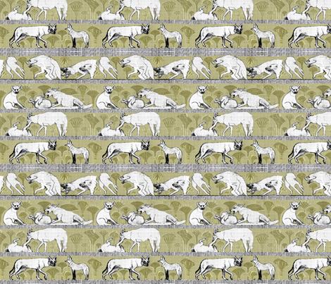 Hunt in Packs fabric by dewoondesign on Spoonflower - custom fabric