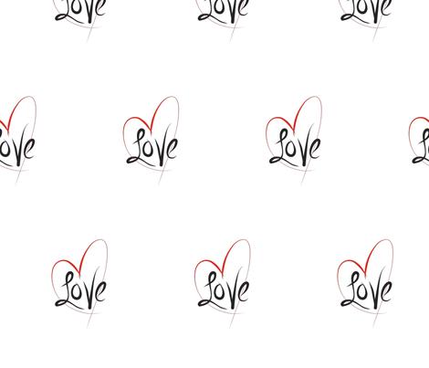 Love tattoo fabric by soft_summer_rain on Spoonflower - custom fabric