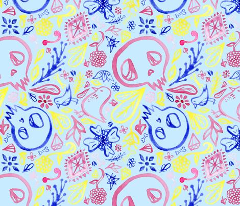 Dia de los Muertos fabric by pessimisticpatterns on Spoonflower - custom fabric