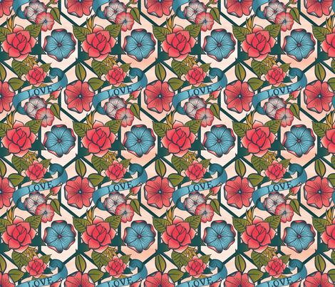 Tattoo Redo fabric by amberlynnbenton on Spoonflower - custom fabric