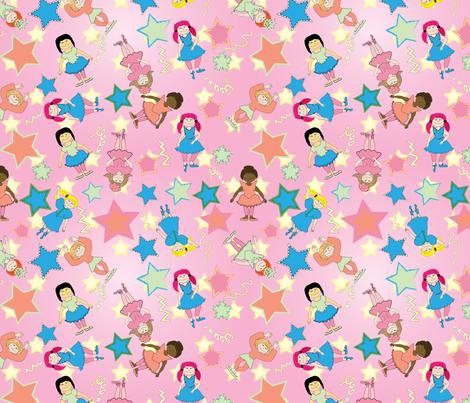Little Dancing Stars fabric by zeetinkermaster on Spoonflower - custom fabric