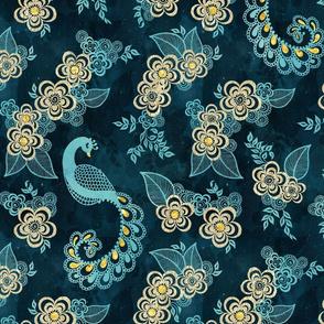 Henna Tattoo Peacock Pattern
