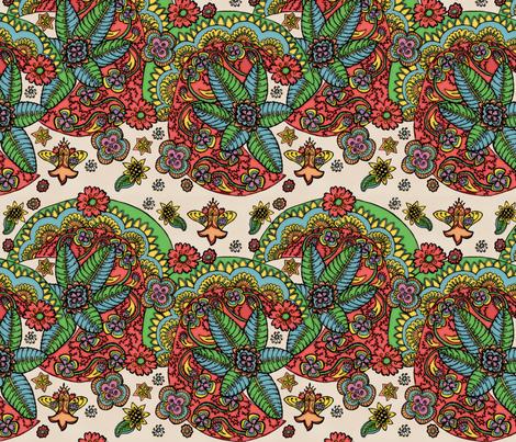 Mehndi body art fabric by palifino on Spoonflower - custom fabric