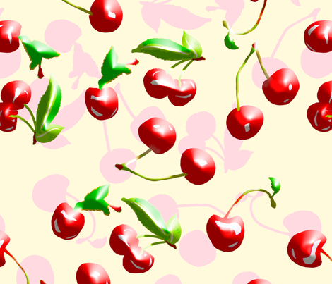 Airbrushed Cherries fabric by johan_lundin on Spoonflower - custom fabric