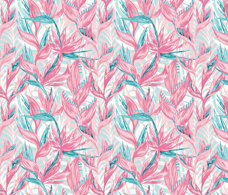 Tropical jungle1- Small Scale fabric by lidiebug on Spoonflower - custom fabric