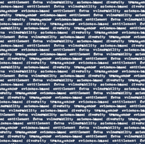 7 Forbidden CDC Words fabric by four-letter_fabric on Spoonflower - custom fabric