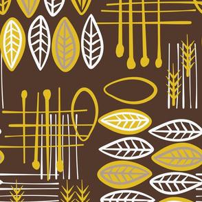 Mid-Century Modern  Konawood - TikTac - brown