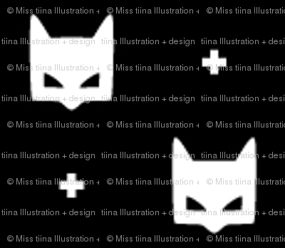 batmask + tiny white black