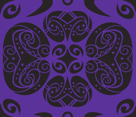 Tattoo purple dream fabric by heather_a_l_hughes on Spoonflower - custom fabric