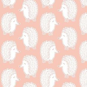 hedgehogs - salmon peach