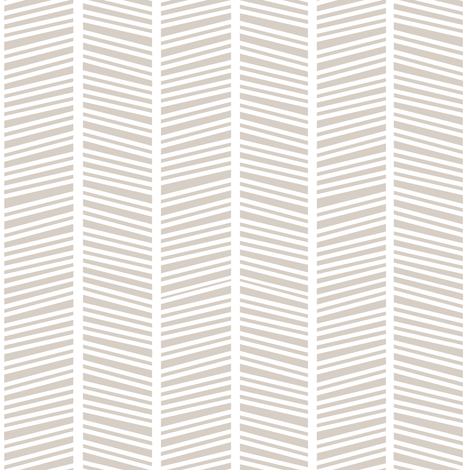 Herringbone Warm Grey fabric by jannasalak on Spoonflower - custom fabric