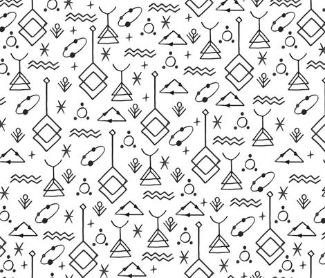 Esoteric Thinking fabric by lidiebug on Spoonflower - custom fabric