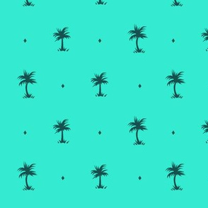 Tiny Palms - Teal - AndreaAlice