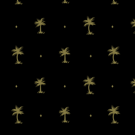 Tiny Palms - Black / Mustard - AndreaAlice fabric by andreaalice on Spoonflower - custom fabric