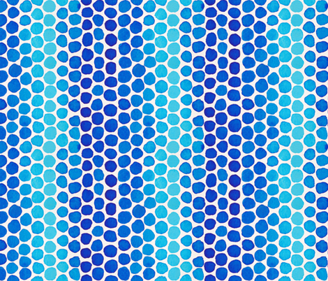 Indigo Watercolor Abstract Geometric Circles // Blue Ocean Dot Shapes fabric by zirkus_design on Spoonflower - custom fabric