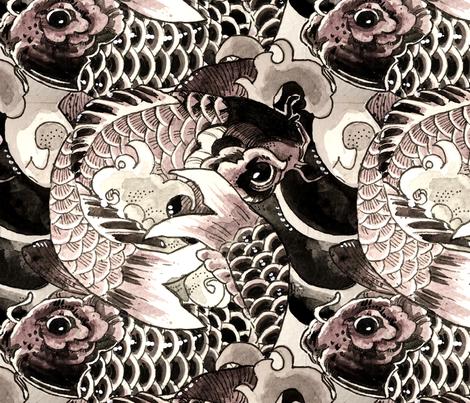 koi koi koi fabric by actually100octopi on Spoonflower - custom fabric