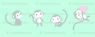 Grey monkeys